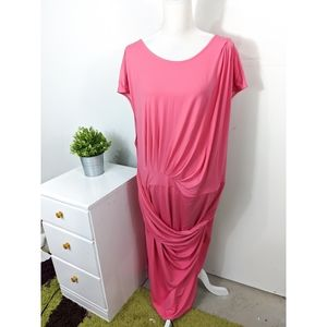 Eloquii Pink Short Sleeve Maxi Dress NWT Size 28